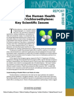 Assessing the Human Health Risks of Trichloroethylene, Report In Brief