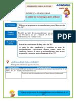 FICHA DE TRABAJO COMUNICACIÓN D1