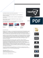 Panasonic-Datenblatt