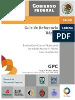 GPC. Guía de Referencia Rápida. Evaluación y Control Nutricional del Adulto Mayor en Primer Nivel de Atención