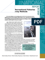 Review of Recreational Fisheries Survey Methods, Report in Brief