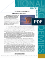 Toward an Integrated Arctic Observing Network, Report in Brief