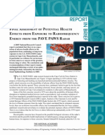 An Assessment of Potential Health Effects from Exposure to PAVE PAWS Low-Level Phased-Array Radiofrequency Energy , Report in Brief
