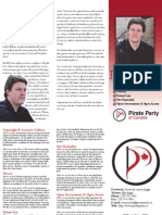 Pirate Party of Canada Prince George Peace River candidate brochure