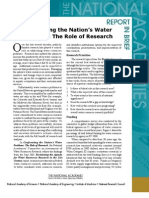 Confronting the Nation's Water Problems, Report in Brief