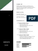 Negro Profesional Currículum