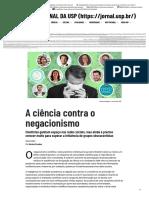 ____A ciência contra o negacionismo – Jornal da USP