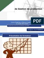 1.Gestion de Production Cycle Ingenieur Génie Industriel