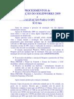 INSTALAÇÃO SW2009