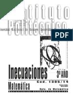 1305-14 MATEMATICA Inecuaciones