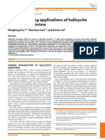 Newly emerging applications of halloysite  nanotubes- a review