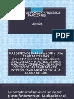 Codigo de familia y procesos familiares en Bolivia