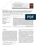 Morphological, thermal and tensile properties of halloysite nanotubes  filled ethylene propylene diene monomer (EPDM) nanocomposites