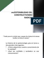 INSOSTENIBILIDAD DEL CONSTRUCTIVISMO RADICAL