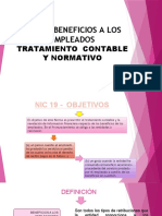 NIC 19- BENEFICIOS A LOS EMPLEADOS
