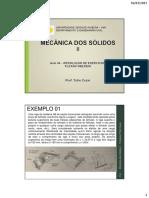 MECÂNICA DOS SÓLIDOS II (AULA 04)_ RESOLUÇÃO DE EXERCÍCIOS_FLEXÃO OBLÍQUA-1