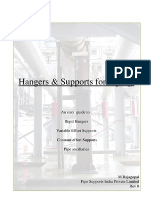 Pipe Support Manual   Pipe (Fluid Conveyance)   Fatigue