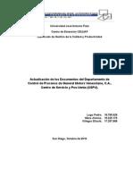 actualizacion de un sistema de documentacion