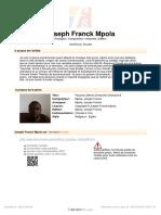 [Free Scores.com] Mpola Joseph Franck Psaume 29eme Dimanche Ordinaire b 48339