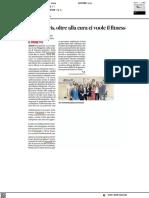 Area Movis, oltre alla cura ci vuole il fitness - Il Corriere Adriatico del 3 ottobre 2021