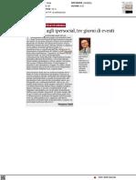 Da Dante agli ipersocial, tre giorni di eventi al Festival del Giornalismo Culturale - Il Corriere della Sera del 4 ottobre 2021