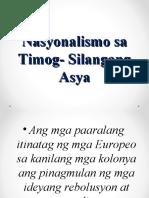 Nasyonalismo Sa Timog Silangang Asya