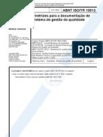 ABNT NBR ISO 10013 TR