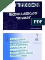 ETAPA PREPARACION DE LA NEGOCIACION