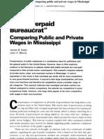 Kaatz and Morris 2000 Overpaid Bureaucrats in MS 3 6 06