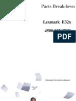 LEXMARK E32X CATALOGO DE PARTES
