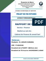 Rapport de stage Cabinet de Finance & conseil sarl