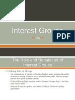 Ch. 11 - Interest Groups (Class)