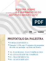 II – OFICINA DE COMPRAS DO INSTITUTO ADOL