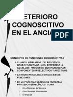 DETERIORO COGNOSCITIVO EN EL ANCIANO