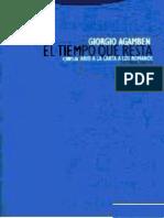Agamben, Giorgio - El Tiempo Que Resta (Comentario a Romanos)