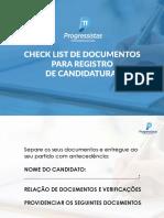 CHECK LIST DE DOCUMENTOS PARA REGISTRO DE CANDIDATURAS