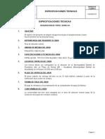 EJEMPLO ESPECIFICACIONES TECNICAS