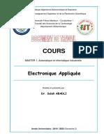 Cours Electronique Appliquée