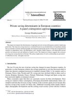 private saving determinants in europe