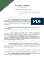 MP 946, DE 7 DE ABRIL DE 2020 - extinção do PIS-PASEP passando para o FGTS