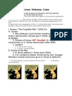 Korea, Vietnam, Cuba lecture notes