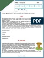 FICHAS COMUNICACIÒN  II BIM 5TO octubre