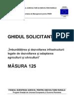 Ghidul Solicitantului Pentru Masura 125 Versiunea Sept Em Brie 2010
