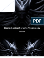 Biomechanical Parasite Typography