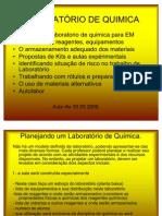 Montagem de um lab de qmc, autolabor, kits de risco