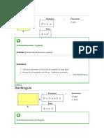 Calculo de Area y Perimetro