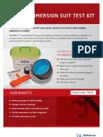 Immersion test kit flyer