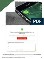 Caída global de WhatsApp, Facebook e Instagram _ Los usuarios reportaron las fallas en Twitter _ Página12