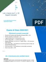 slide Esame 2021 Secondo ciclo
