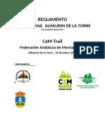 Reglamento CXM Trail Alhaurin de La Torre 2022